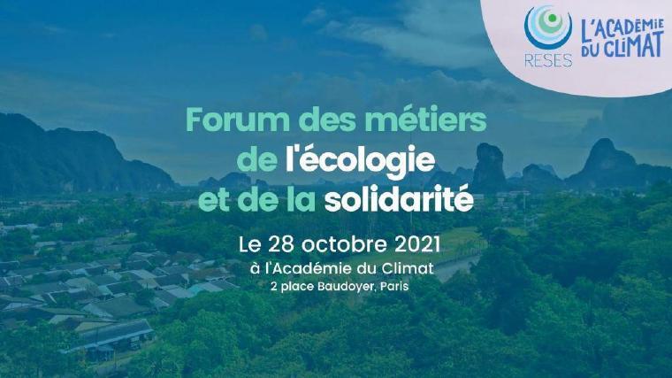 Forum des métiers de l'écologie et de la solidarité
